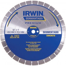 Disco Diamantado Irwin 450 mm - Segmentado - Concreto - Ref: 1778740