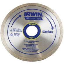 Disco Diamantado Irwin Continuo 110 mm x 20 mm - Ref: 13891
