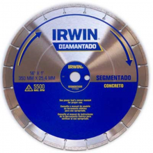 Disco Diamantado Irwin 350 mm Segmentado - Concreto REF:1777223
