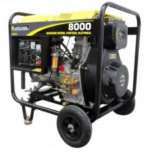 Gerador de Energia Matsuyama à Diesel 4T 8 Kva Partida Elétrica Monofásico