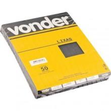 Lixa d'água LDV 0023 grão 220 VONDER - Pacote 50 Unidades