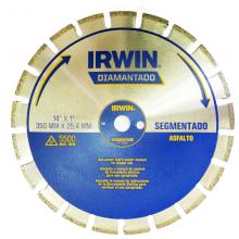 Disco Diamantado Irwin 350 mm Segmentado - Asfalto - Ref: 1777224